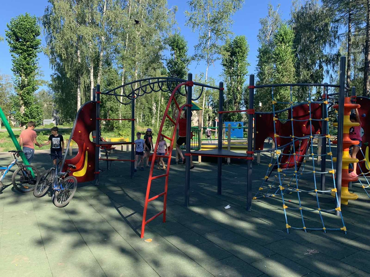 Парк у ДК в Лыскове благоустроен на 80% - фото 1