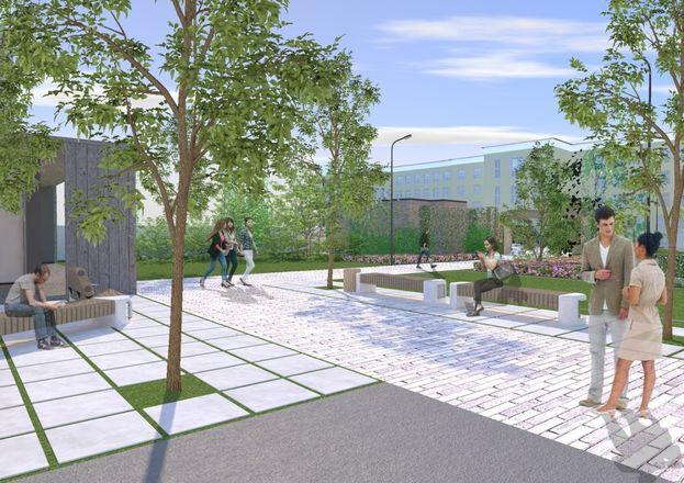 Универсальная спортплощадка с ворк-аут зоной и зоной для отдыха появится во дворе Мининского университета.  - фото 1