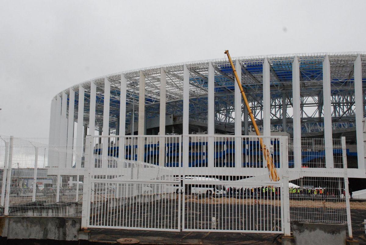 Настадионе «Нижний Новгород» завершен монтаж кровли