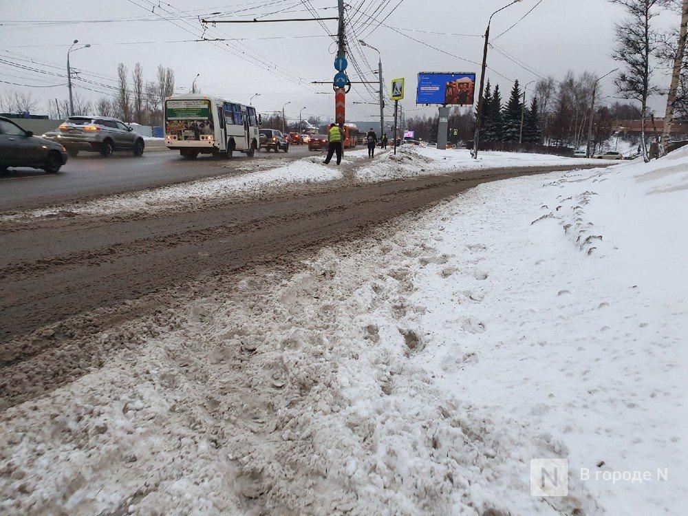 Ночной снегопад сковал движение на улицах Нижнего Новгорода - фото 1