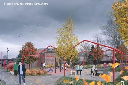Вторую часть нижегородского сквера Свердлова благоустроят до конца октября