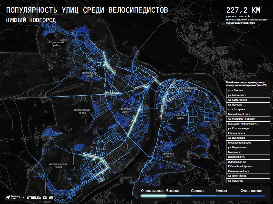 Названы самые популярные улицы у нижегородских велосипедистов - фото 2