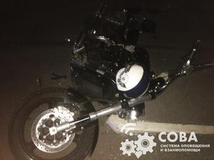 Мотоциклист получил перелом ноги в ДТП на Нижне-Волжской набережной