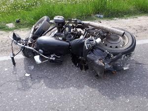 Неопытный мотоциклист вылетел в кювет в Воскресенском районе