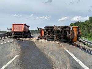 Движение по трассе М-7 в сторону Москвы перекрыто из-за ДТП на обходе Нижнего Новгорода